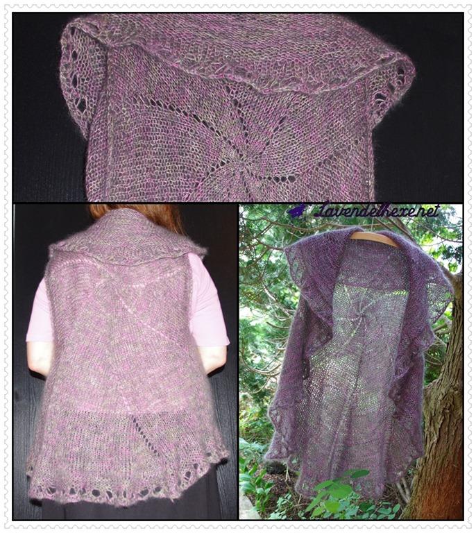 Eine Kreisweste Lavendelhexe