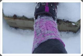 Warme Stulpen oder kalten Schnee