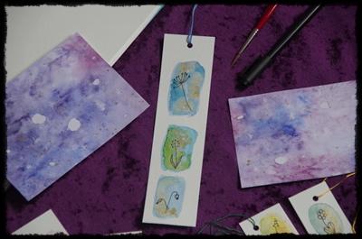 Papier und Farbe